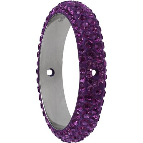 Swarovski 85001 18.5mm BeCharmed Pave Thread Ring Amethyst (6 pieces ). The Swarovski BeCharmed Pave Thread Ring expresses exquisite elegance, perfection and grandeur. Amethyst is the February birthstone color and is a medium to dark reddish purple tone and blends nicely with Lilac and Light Amethyst. Swarovski Crystal is essential in creating captivating jewelry designs of exceptional radiance and quality.