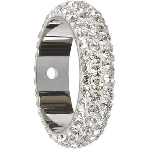 Swarovski 85001 14.5mm BeCharmed Pave Thread Ring Aquamarine (6 pieces )