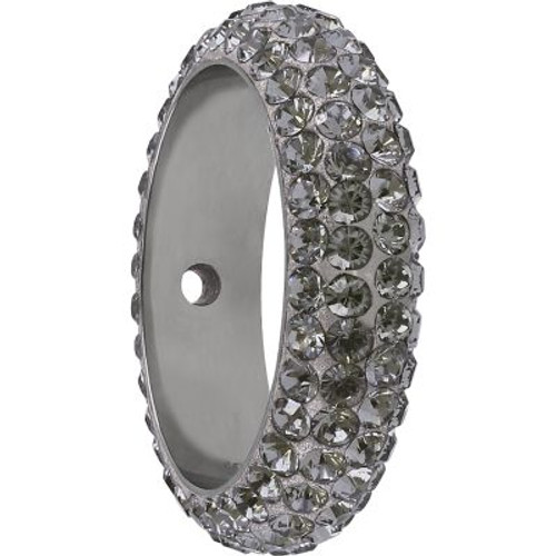 Swarovski 85001 14.5mm BeCharmed Pave Thread Ring Black Diamond (6 pieces )