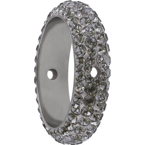 Swarovski 85001 18.5mm BeCharmed Pave Thread Ring Black Diamond (6 pieces )