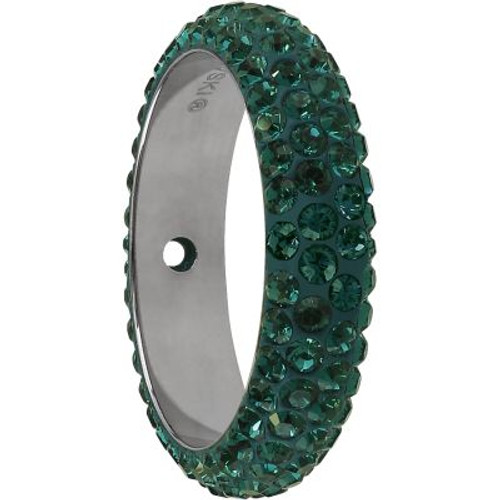 Swarovski 85001 14.5mm BeCharmed Pave Thread Ring Emerald (6 pieces )