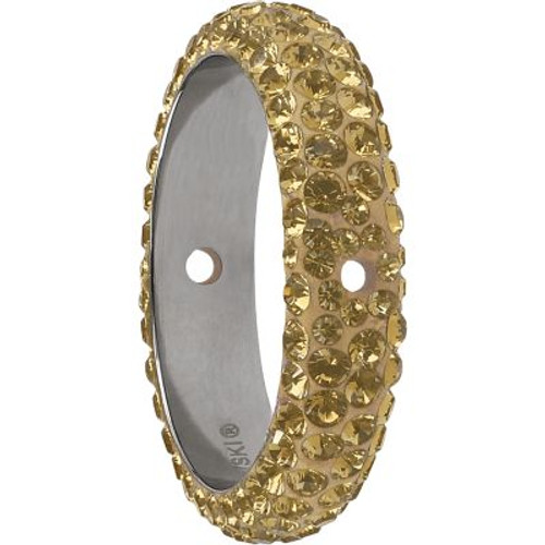 Swarovski 85001 14.5mm BeCharmed Pave Thread Ring Crystal Golden Shadow (6 pieces )