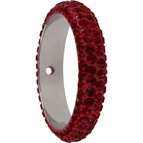 Swarovski 85001 14.5mm BeCharmed Pave Thread Ring Indian Siam (6 pieces )