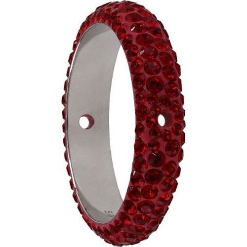 Swarovski 85001 18.5mm BeCharmed Pave Thread Ring Indian Siam (6 pieces )