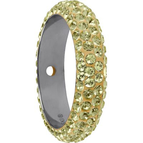 Swarovski 85001 16.5mm BeCharmed Pave Thread Ring Jonquil (6 pieces )