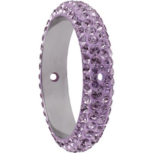 Swarovski 85001 14.5mm BeCharmed Pave Thread Ring Light Amethyst (6 pieces )