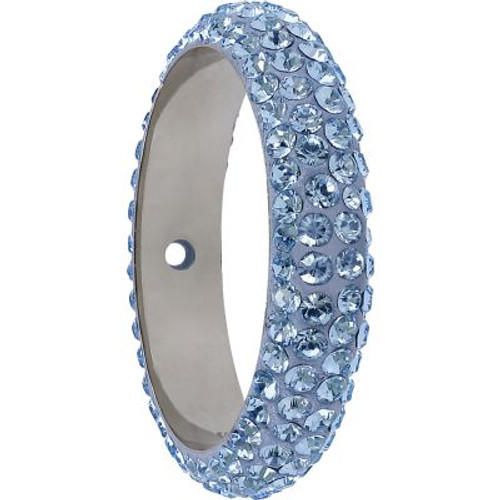 Swarovski 85001 16.5mm BeCharmed Pave Thread Ring Light Sapphire (6 pieces )