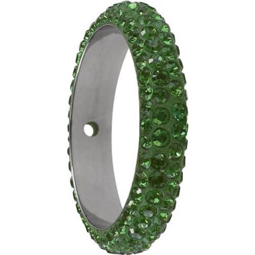 Swarovski 85001 16.5mm BeCharmed Pave Thread Ring Peridot (6 pieces )