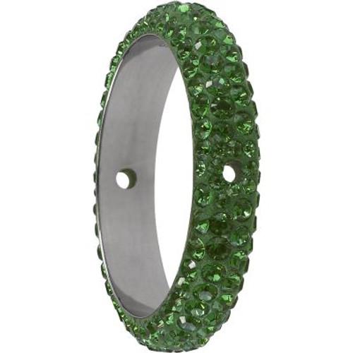 Swarovski 85001 14.5mm BeCharmed Pave Thread Ring Peridot (6 pieces )