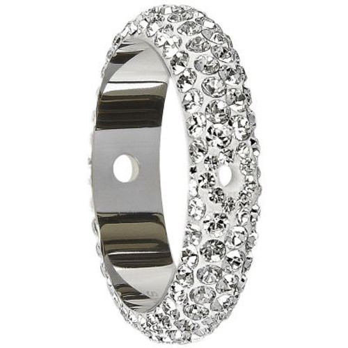 Swarovski 85001 18.5mm BeCharmed Pave Thread Ring Sapphire (6 pieces )