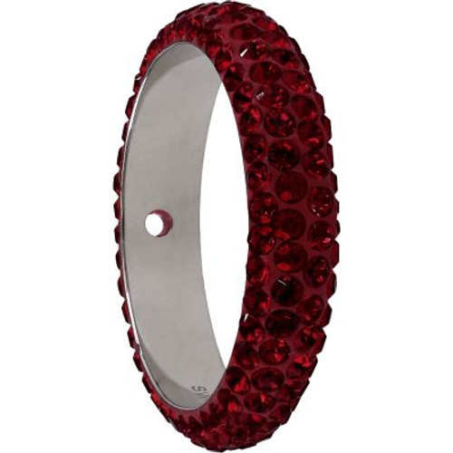 Swarovski 85001 16.5mm BeCharmed Pave Thread Ring Siam (6 pieces )