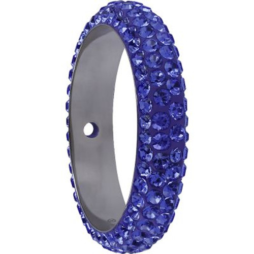 Swarovski 85001 14.5mm BeCharmed Pave Thread Ring Tanzanite (6 pieces )