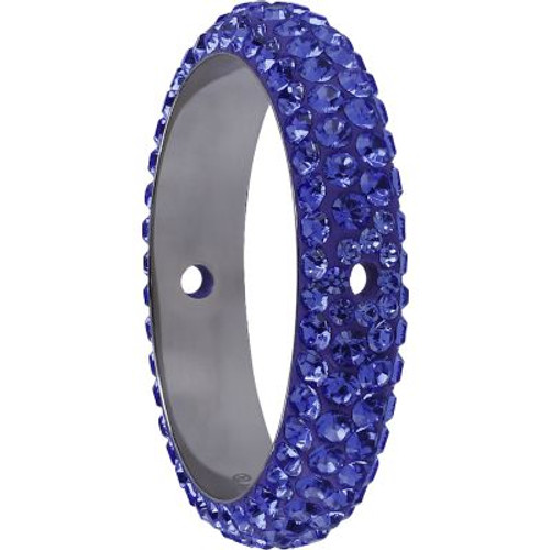 Swarovski 85001 16.5mm BeCharmed Pave Thread Ring Tanzanite (6 pieces )