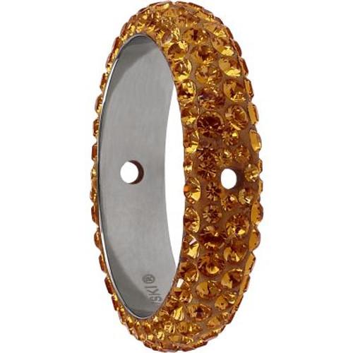 Swarovski 85001 18.5mm BeCharmed Pave Thread Ring Topaz (6 pieces )