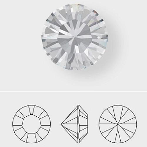 Swarovski 1028 4pp Xilion Round Stones Black Diamond