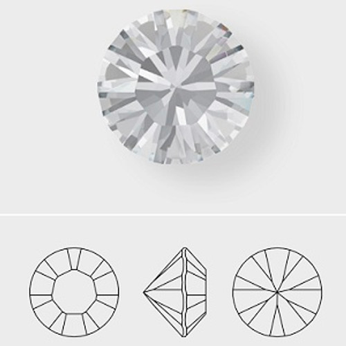 Swarovski 1100 0pp Xilion Round Stones Black Diamond