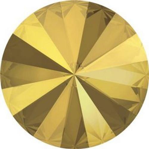 Swarovski 1122 12mm Xilion Round Stones Crystal Metallic Sunshine