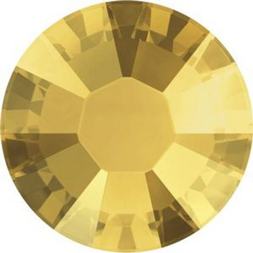 Swarovski 2038 10ss Xilion Flatback Crystal Metallic Sunshine Hot Fix