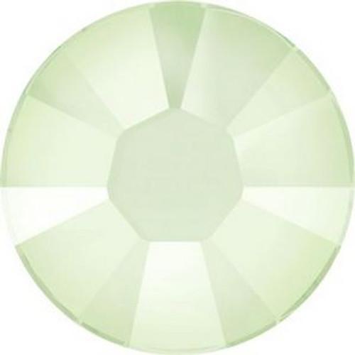Swarovski 2038 10ss Xilion Flatback Crystal Powder Green Hot Fix