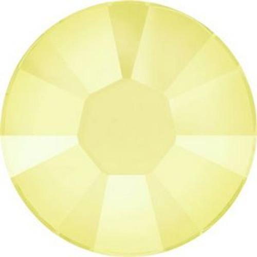 Swarovski 2038 10ss Xilion Flatback Crystal Powder Yellow Hot Fix