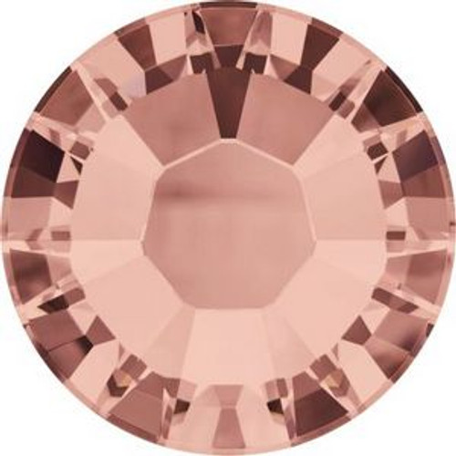 Swarovski 2038 8ss Xilion Flatback Blush Rose Hot Fix