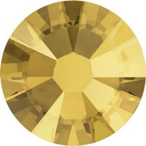 Swarovski 2058 5ss Xilion Flatback Crystal Metallic Sunshine