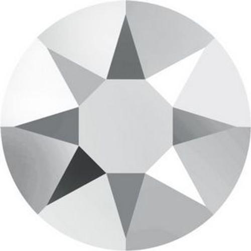 Swarovski 2078 20ss Xilion Flatback Crystal Light Chrome Hot Fix