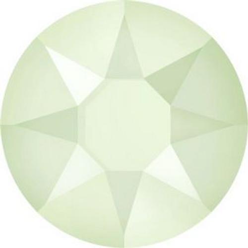Swarovski 2078 34ss Xilion Flatback Crystal Powder Green Hot Fix