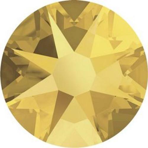Swarovski 2088 16ss Xilion Flatback Crystal Metallic Sunshine