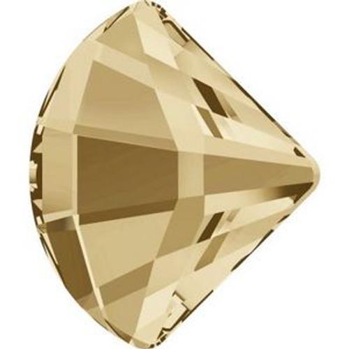 Swarovski 2714 14mm Fan Flatback Crystal Golden Shadow