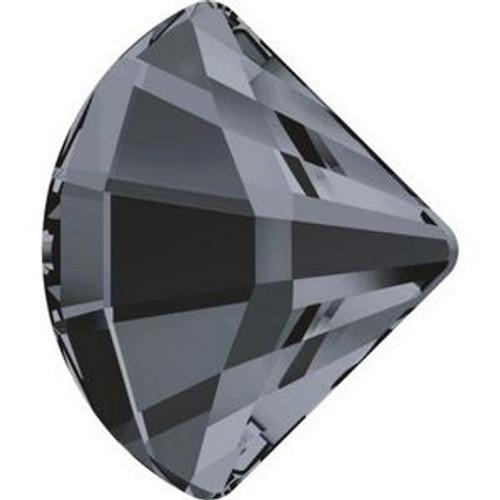 Swarovski 2714 14mm Fan Flatback Crystal Silver Night