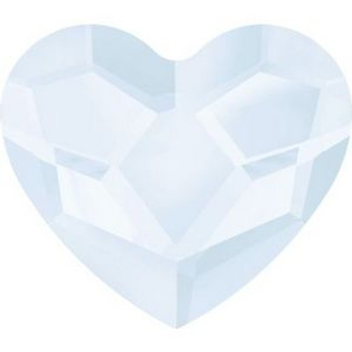 Swarovski 2808 10mm Heart Flatback Crystal Powder Blue