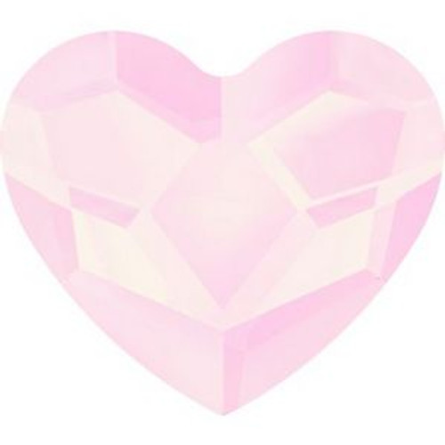 Swarovski 2808 14mm Heart Flatback Crystal Powder Rose