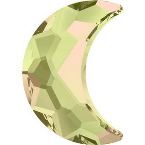 Swarovski 2813 10mm Moon Flatback Crystal Luminous Green