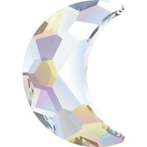 Swarovski 2813 14mm Moon Flatback Crystal AB Hot Fix