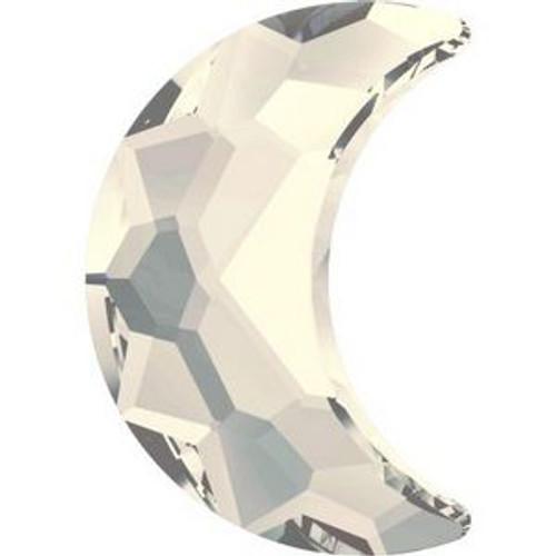 Swarovski 2813 14mm Moon Flatback Crystal Moonlight