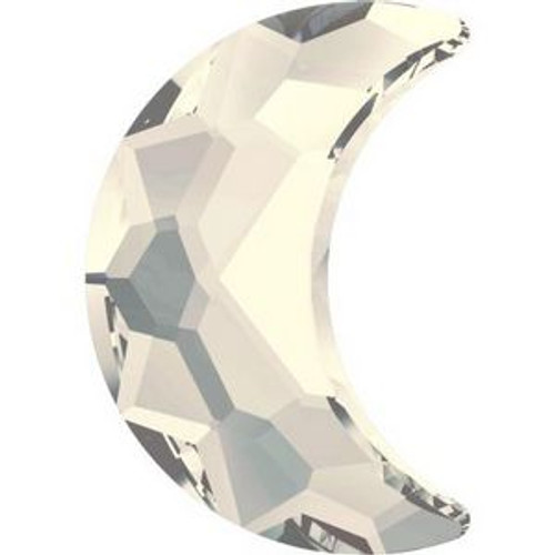 Swarovski 2813 14mm Moon Flatback Crystal Moonlight Hot Fix