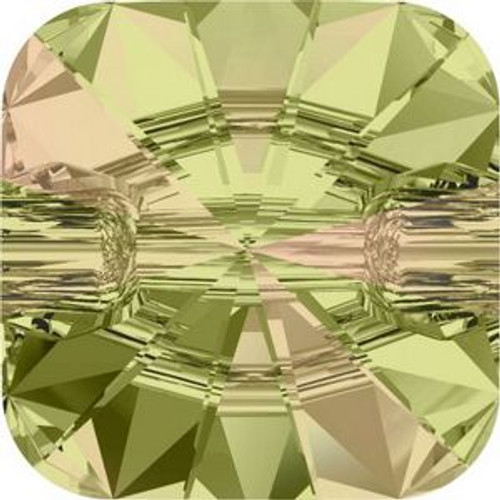 Swarovski 3009 12mm Rivoli Square Buttons Crystal Luminous Green