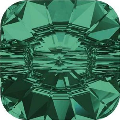 Swarovski 3009 12mm Rivoli Square Buttons Emerald