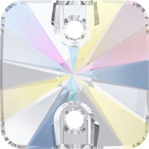 Swarovski 3201 10mm Rivoli Square Sew on Stones Crystal AB