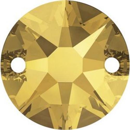 Swarovski 3288 12mm Xirius Sew on Stones Crystal Metallic Sunshine