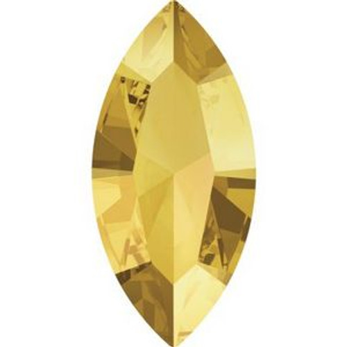Swarovski 4228 15mm Xilion Navette Fancy Stones Crystal Metallic Sunshine