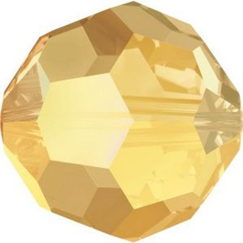 Swarovski 5000 6mm Round Beads Crystal Metallic Sunshine