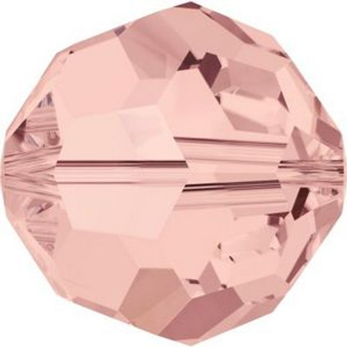 Swarovski 5000 8mm Round Beads Blush Rose