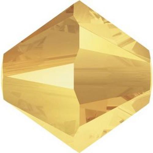 Swarovski 5328 4mm Xilion Bicone Beads Crystal Metallic Sunshine