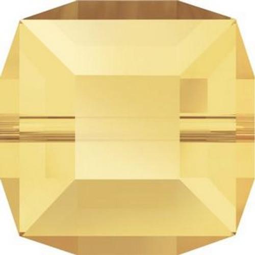 Swarovski 5601 4mm Cube Beads Crystal Metallic Sunshine