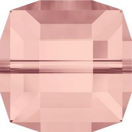 Swarovski 5601 6mm Cube Beads Blush Rose
