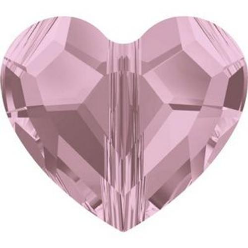 Swarovski 5741 12mm Love Beads Crystal Antique Pink