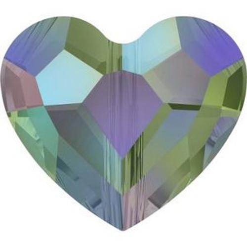 Swarovski 5741 12mm Love Beads Crystal Paradise Shine