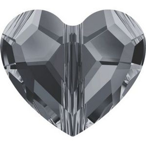 Swarovski 5741 8mm Love Beads Crystal Silver Night